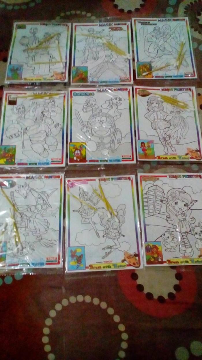 Jual Mainan Edukasi Magic Painting Mewarnai Dengan Cat Air Dan Cotton Buds Jakarta Timur Lizam Corner