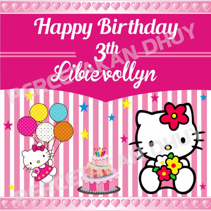 Banner Ulang Tahun Tema Hello Kitty Desain Terbaru Lagi