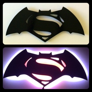 Batman vs Superman License Plate Tag Aluminum Baked on Finish Cool New