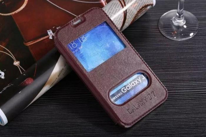 harga Samsung galaxy j7 klx leather flip case flipcase cover flipcover brown Tokopedia.com