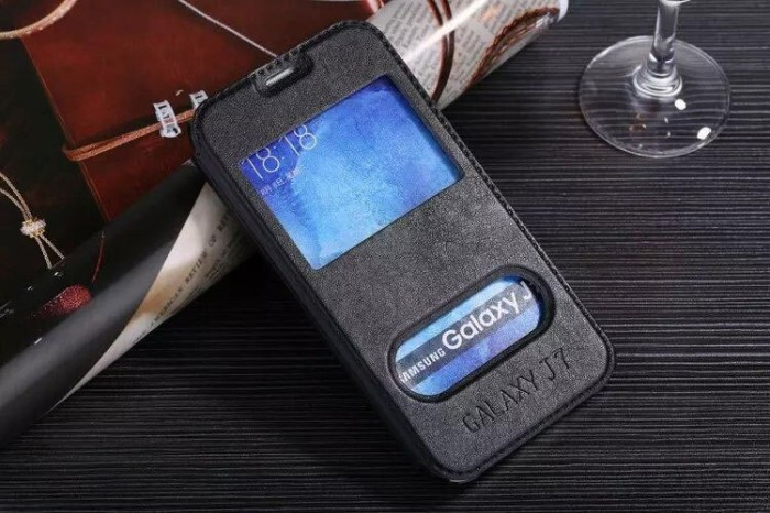 harga Samsung galaxy j7 klx leather flip case flipcase cover flipcover hitam Tokopedia.com