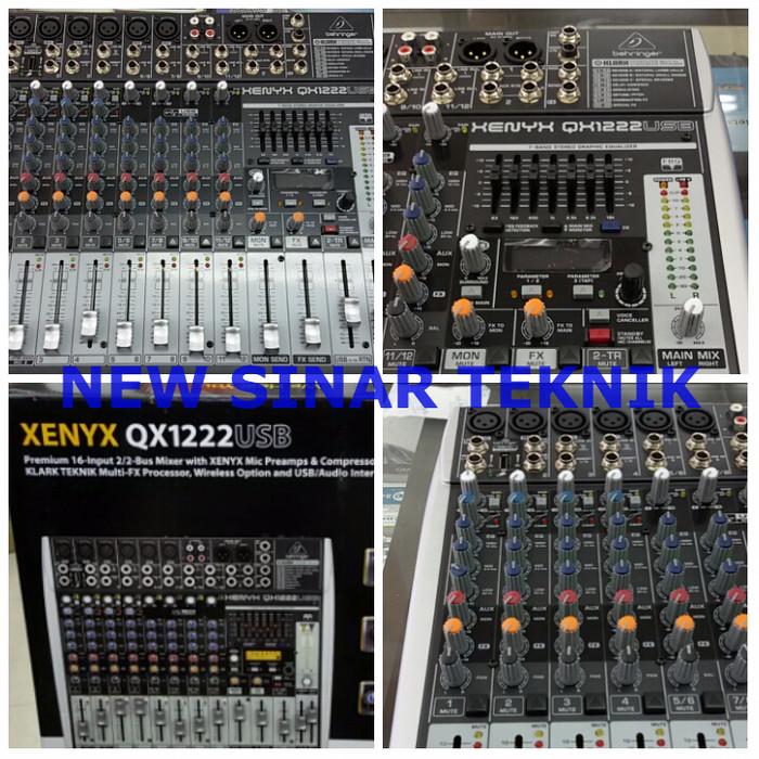 harga Mixer Behringer Xenyx Qx1222usb 6 Channel Mono 2 Stereo Dgn Equalizer Tokopedia.com