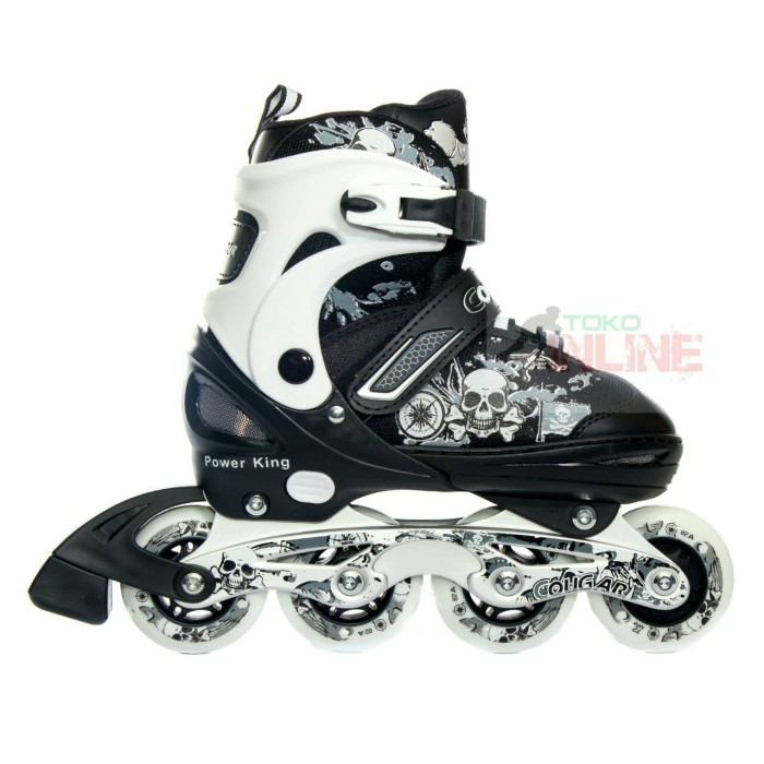harga Sepatu roda cougar power king white/black recreational inline skate Tokopedia.com