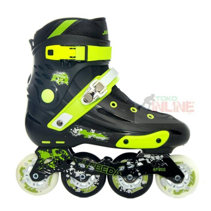 Jual Sepatu Roda Labeda V5 Slalom Inline Skate - Black Green - Toko ... 9fa73d40d8