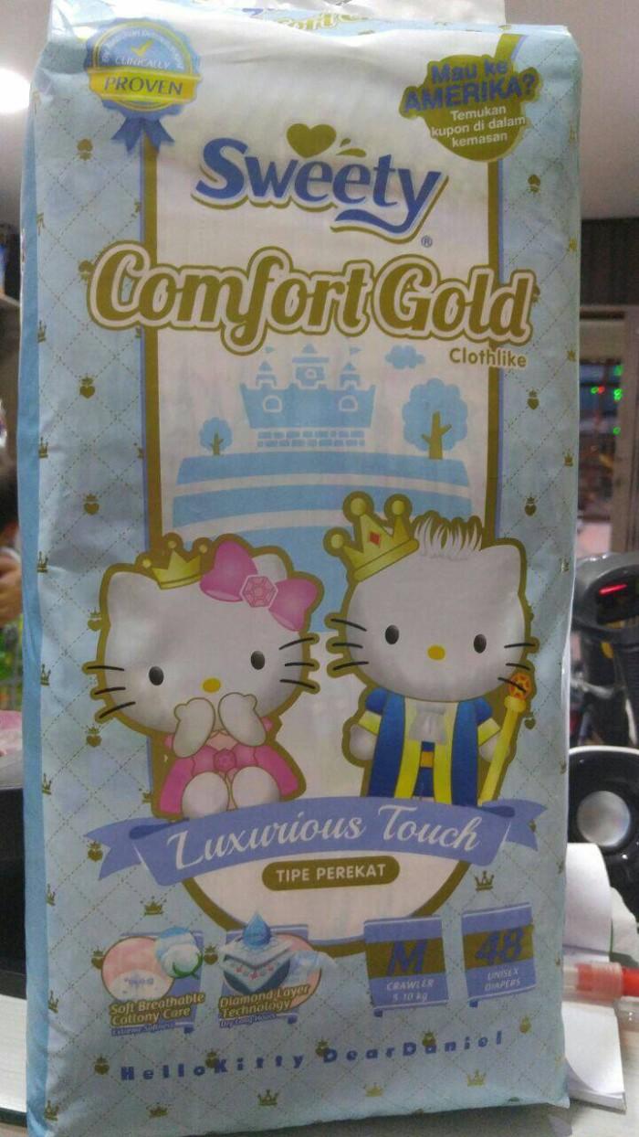 harga Pampers/diapers Bayi (perekat) Sweety Comfort Gold Uk M(48) Dan L(44) Tokopedia.com
