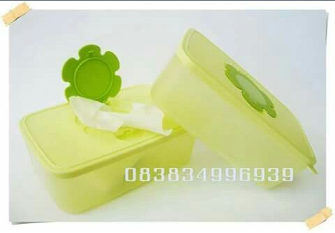 Tupperware tissue box hijau (1)