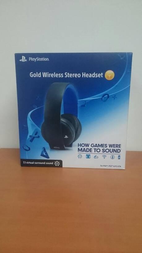 PS3/PS4/PSVITA SONY GOLD WIRELESS STREO HEADSET