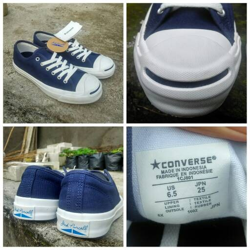 Jual Converse Jack Purcell Navy Original Indonesia - Huda Original ... f52e0eae69