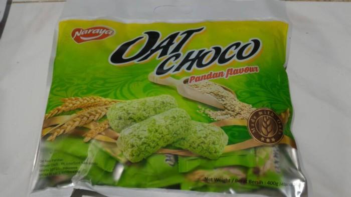 harga Naraya oat choco pandan flavour enak sehat snack gandum Tokopedia.com