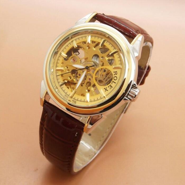 Jam Tangan Pria   Rolex Automatic ~ Transparan Mesin ~ Box Eklusif - GAMBAR  PERTAMA 4582aee440
