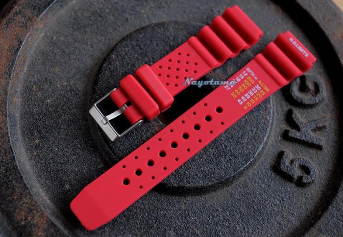 Jual 22mm ND Limits Merah - Tali Jam Tangan Karet - Rubber Strap ...