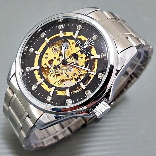 Jual Jam tangan Rolex automatic kw super rantai stainless harga ... 07637adca2