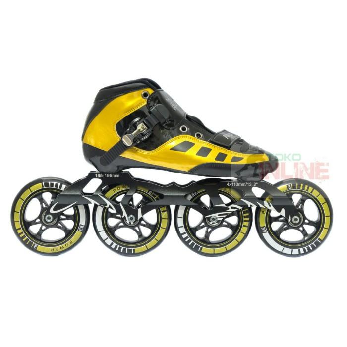 harga Sepatu roda lynx sp56 speed inline skate - gold Tokopedia.com