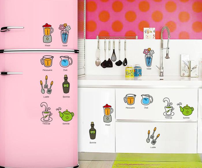 jual wallpaper untuk dapur / motif peralatan dapur khm066 - toko49