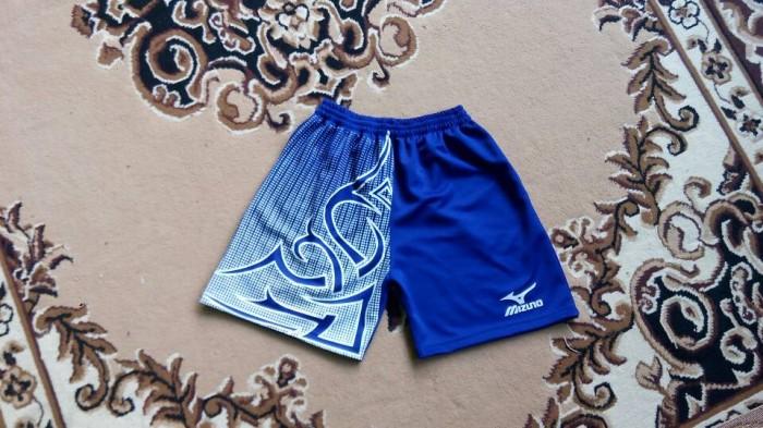Celana voli Mizuno Motif Tatto biru benhur