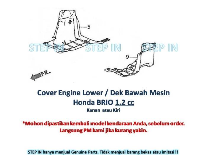 ... harga Cover engine lower / dek bawah mesin r/l honda brio 1200cc baru asli