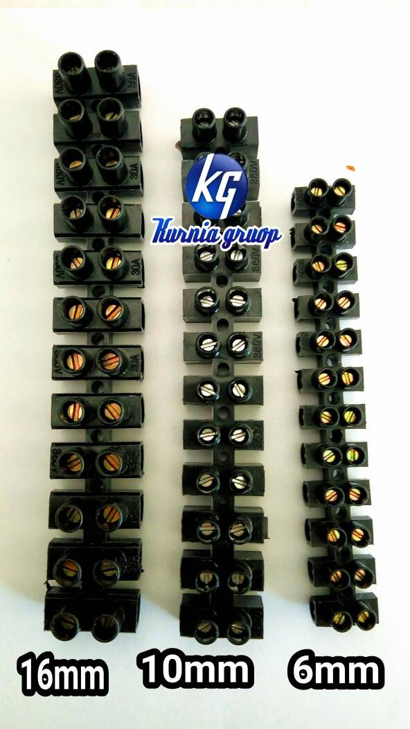 jual terminal blok 16mm kuningan isi 12 pcs untuk sambungan kabel kurnia group tokopedia. Black Bedroom Furniture Sets. Home Design Ideas
