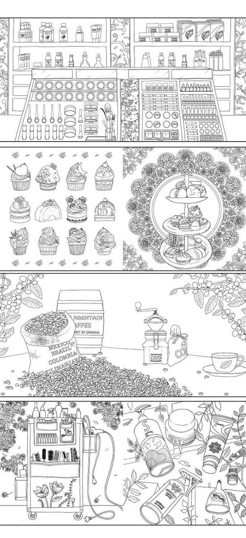 Fantasy Store Coloring Book Buku Mewarnai Tema Toko Impian