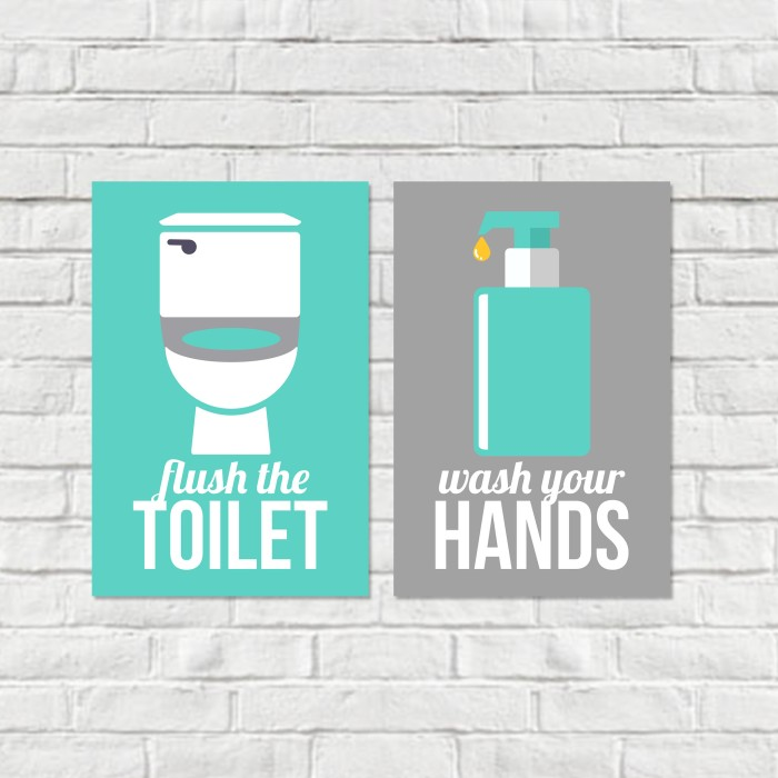 image regarding Printable Bathroom Rules identify Jual Flush Clean Lavatory Tips Mounted / Lavatory Pointers / Lavatory Indicator / Poster - Kota Pontianak - NF Printable Style Tokopedia