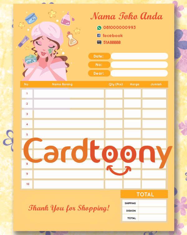Jual Nota Full Color Warna Untuk Ol Kecantikan Beauty Make Up 1 Ply Kota Surabaya Cardtoony Tokopedia