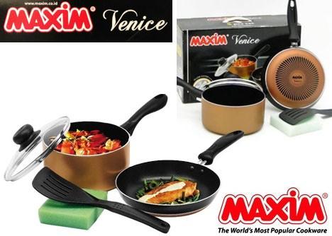 peralatan dapur unik/MAXIM VENICE SET 5PCS / WAJAN Teflon MAXIM 1 Se