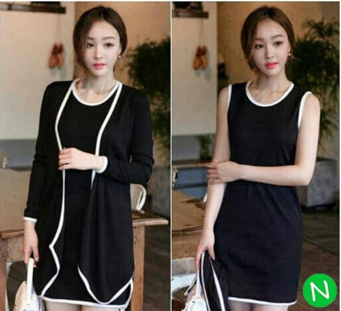harga Dress+cardi cantik / dress feminim / grosir baju murah berkualitas Tokopedia.com
