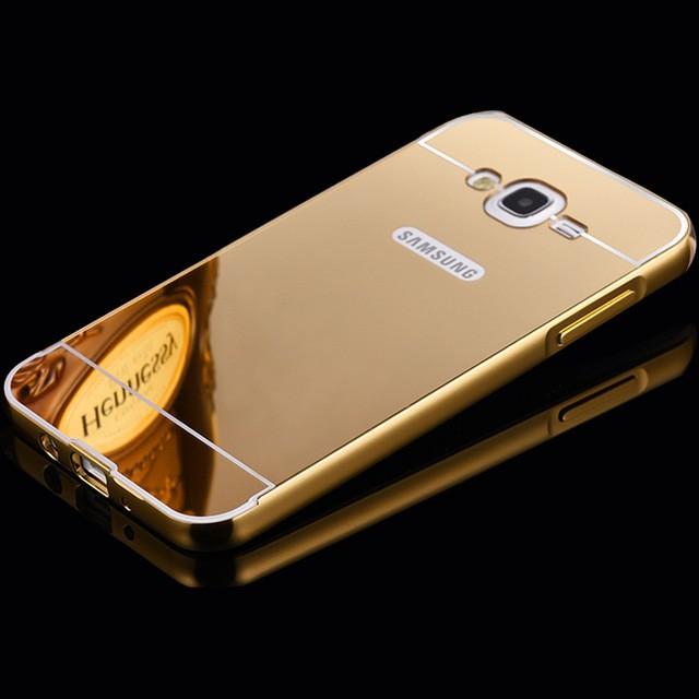 Alumunium Bumper+Backdoor Slide Mirrror Samsung Galaxy Note 2