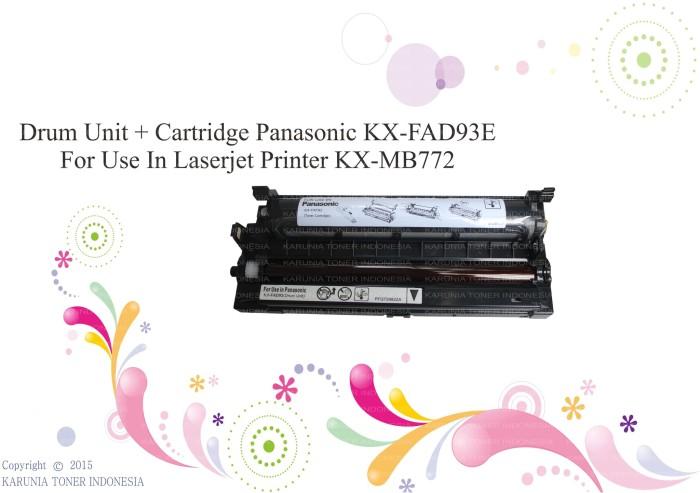 harga Drum unit + cartridge panasonic kx-fad93e for use in laserjet kx-mb772 Tokopedia.com