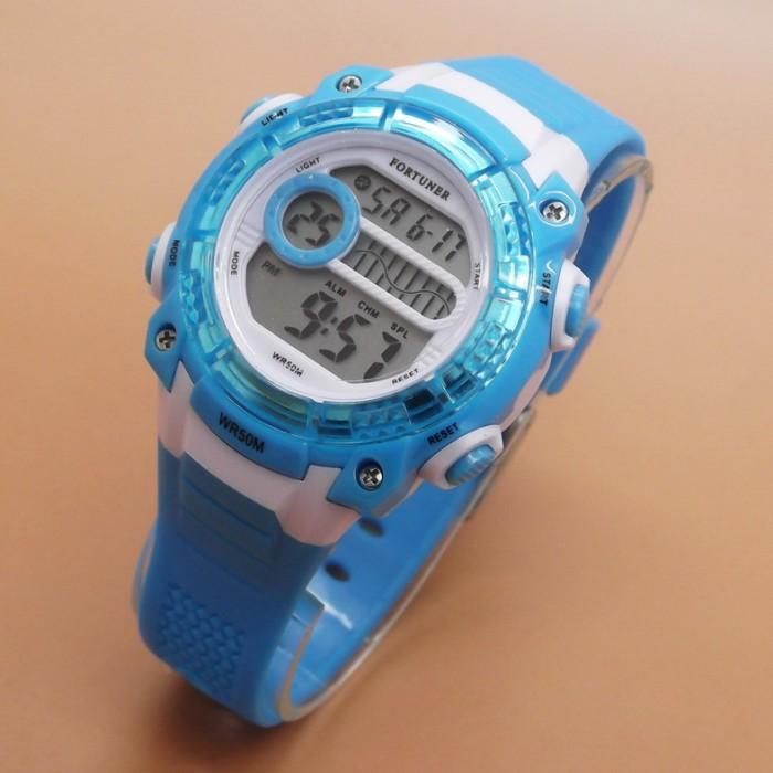 harga Jam tangan fortuner j758 light blue wanita cewek anak remaja original Tokopedia.com