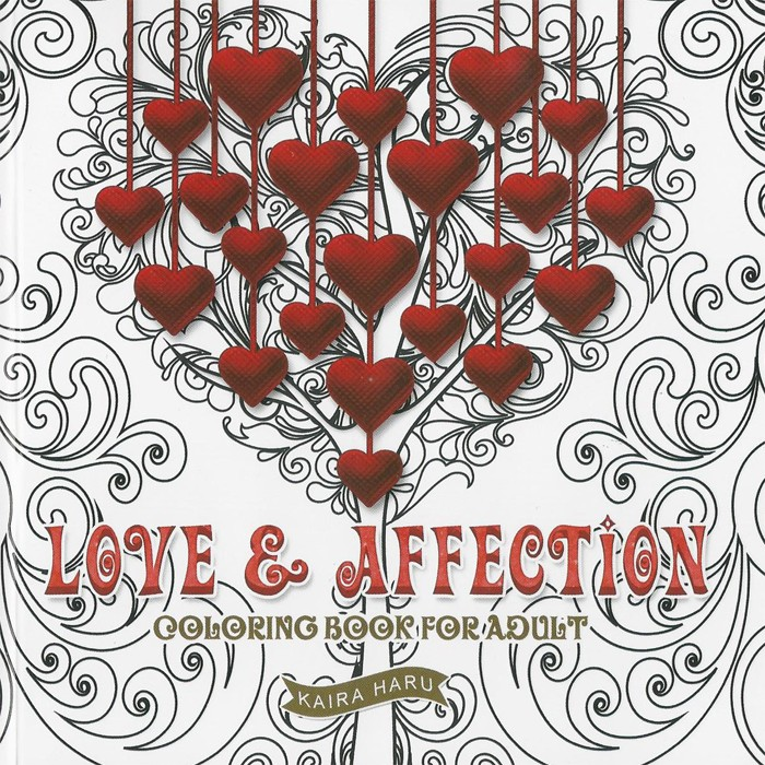 Coloring Book For Adults LOVE AFFECTION