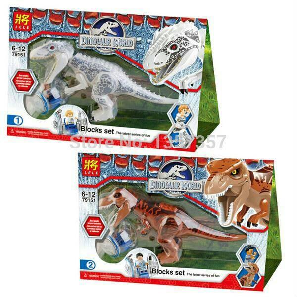 Jual lego dino lele 79151 jurassic world dinosaurus t rex indominus rex fika toy tokopedia - Jeux lego dino ...