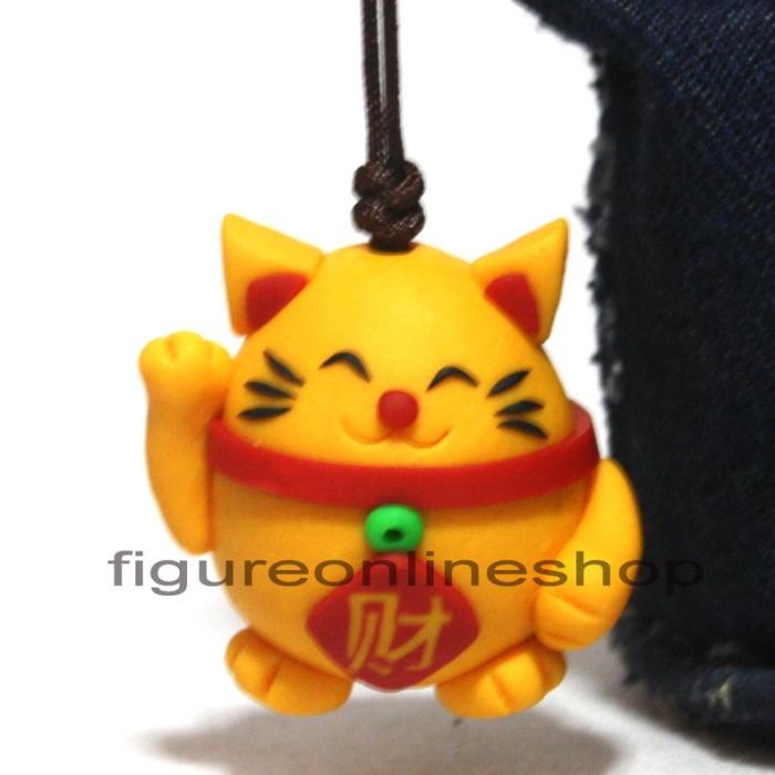 harga Gantungan tas / kunci clay 3d kucing jepang kuning Tokopedia.com