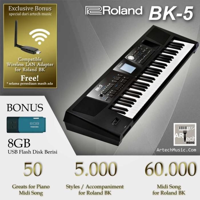 harga Roland bk5 / bk-5 / bk 5 backing keyboard - garansi resmi - bonus wlan Tokopedia.com