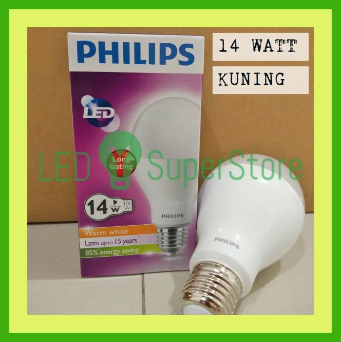 Lampu LED Philips 14 Watt Warm White Kuning