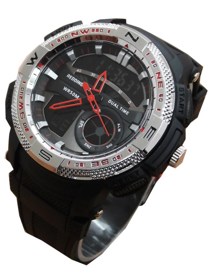 Jual Reddington Original R 1109 Jam Tangan Dualtime hitam Silver ... e7383fe15b