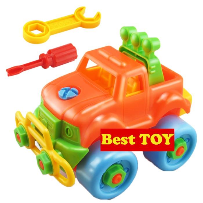 Foto Produk Mainan Anak Bongkar Pasang Merakit Mobil Truk Truck Baut Obeng ME-026 dari Kid Smart