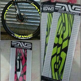 Fluorescent MTB Sepeda Sepeda Bersepeda Motor Stiker Reflektif Strip Decal Tape Keselamatan Tahan Air Stiker Pita