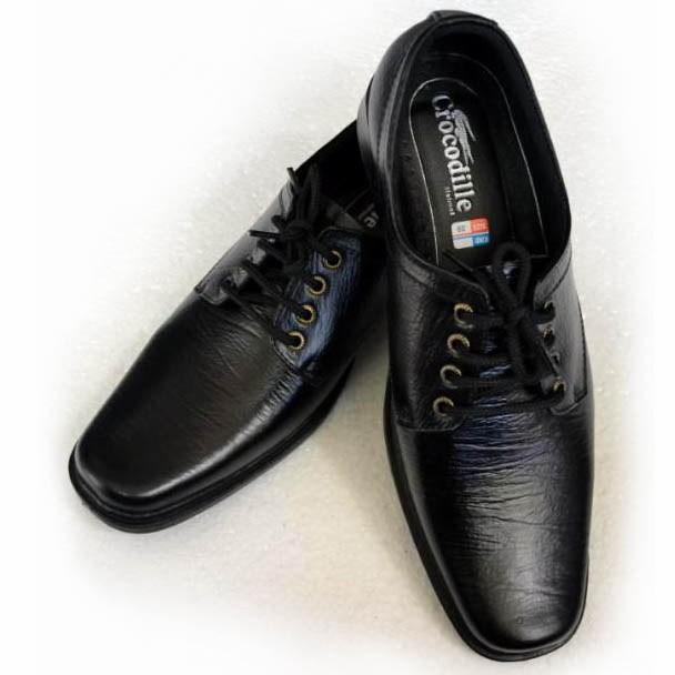 ... harga Sepatu pantofel kulit formal crocodile pria kulit sapi asli model  tali Tokopedia.com 3913f4ade7