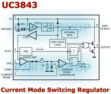 Jual UC3843 UC3843AN Dip 8 IC High Performance Current Mode Controllers -  Kota Semarang - parts-shop | Tokopedia