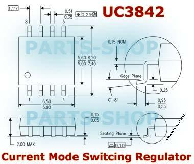 Jual UC3842 UC3842A smd 8 IC High Performance Current Mode Controllers -  Kota Semarang - parts-shop | Tokopedia