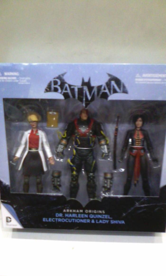 Jual Batman Arkham Origins Dr Harleen Quinzel Electrocutioner Lady Shiva Kota Surabaya Multi Anugerah Olshop