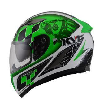 Helm kyt vendeta 2 gp cruise white green vendetta 2 full visor
