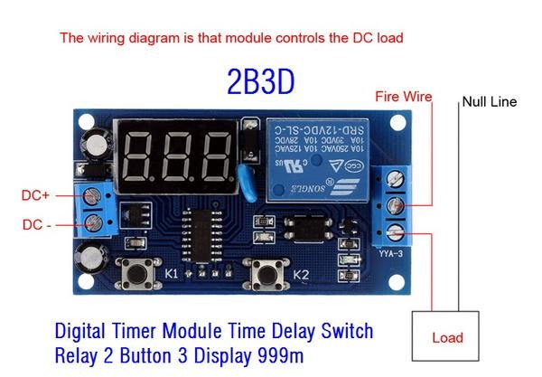 harga Digital timer module (2b3d) time delay switch relay 2 button 3 display Tokopedia.com