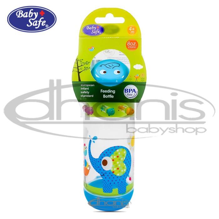 harga Botol susu baby safe slim neck bottle character 150ml - blue elephant Tokopedia.com