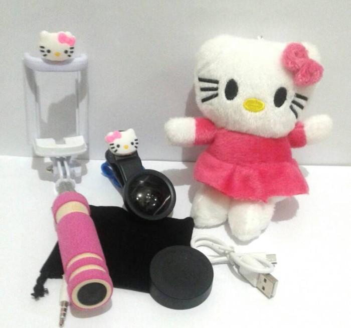 ... harga Paket special selfie hello kitty tongsis superwide powerbank  boneka Tokopedia.com 0ea4c9022e