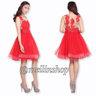 Jual Gaun Pesta Premium Dress Pesta Pendek Gaun Brokat Bridesmaid
