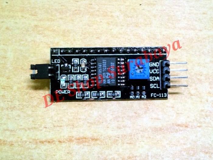 Foto Produk I2C LCD Interface backplate module for LCD 1602 2004 Arduino dari Hobi Elektronika