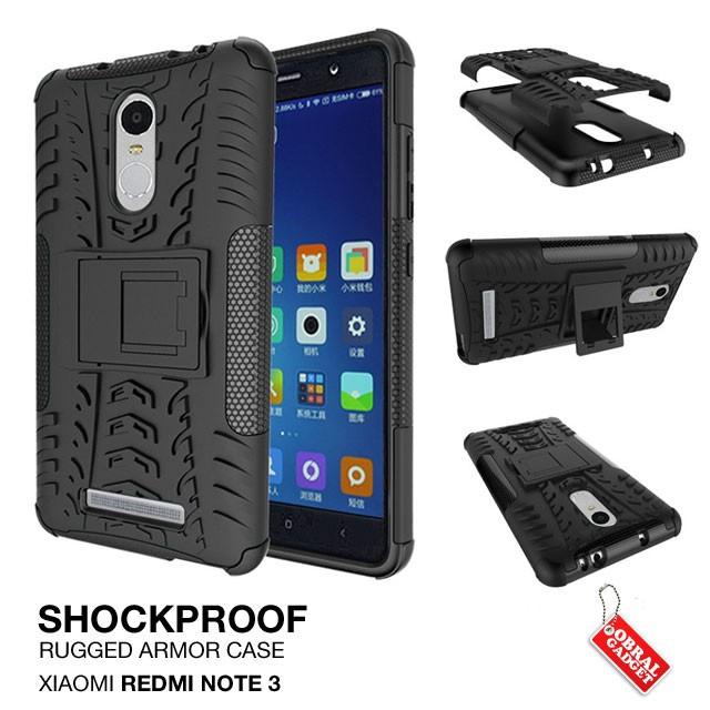 Rugged Armor Stand Hard Soft Cover Casing Case Xiaomi Redmi Note 3