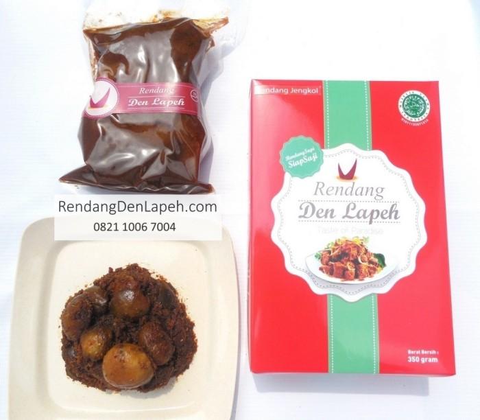 Rendang Den Lapeh Rendang Daging Kemasan Mini Traveling Package 175 Source Rendang Jengkol