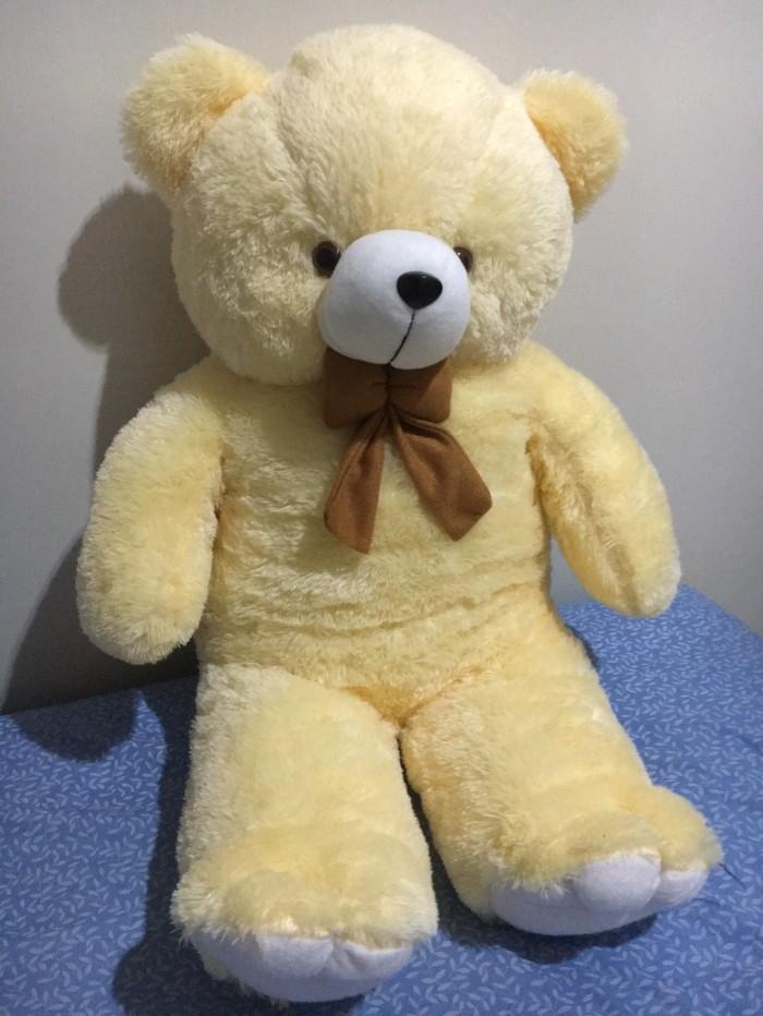 Jual Boneka Teddy Bear Cream Jumbo 1 Meter Bandung. Cocok Buat ... cfad975008